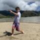 Warner doing beach boogy